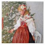 Teja Trivet de la bella arte del árbol de navidad