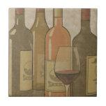 Teja Trivet de la botella de vino del vintage