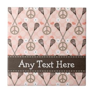 Teja Trivet de LaCrosse del amor de la paz