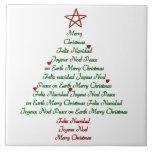 Teja Trivet del árbol de navidad