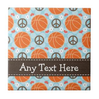 Teja Trivet del baloncesto del amor de la paz