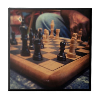 Teja/Trivet del club de ajedrez Azulejo Cuadrado Pequeño