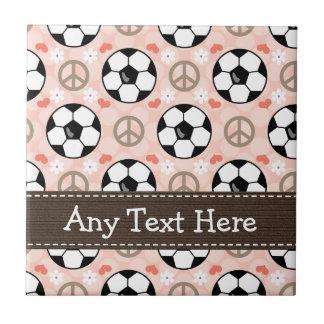 Teja Trivet del fútbol del amor de la paz
