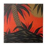 Teja tropical del mar del sur de la palmera del vi