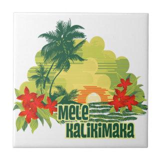 Teja tropical Trivets de la isla de Mele Kalikimak