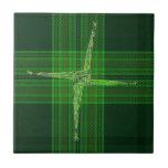 Teja verde cruzada del tartán del St. Bridgid s