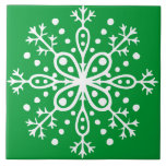 Teja verde del copo de nieve
