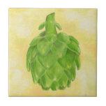 Teja verde del cuadrado de la alcachofa