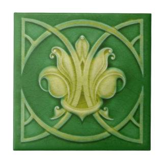 Teja verde gótica de Repro de la flor de lis de