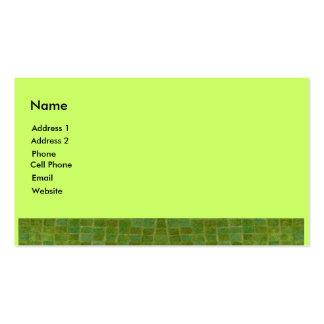 teja verde tarjetas de visita