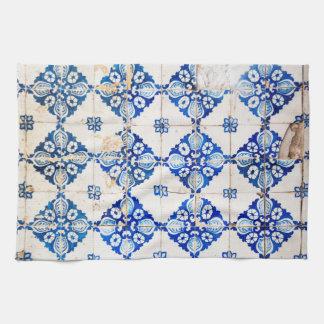 teja vieja de Portugal de la decoración azul de Toalla De Mano