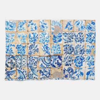 teja vieja de Portugal de la decoración azul de Toallas