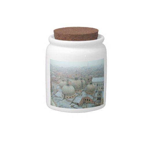 Tejado abovedado de la catedral de Venecia San Mar Platos Para Caramelos
