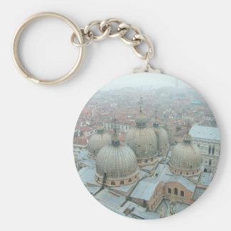 Tejado abovedado de la catedral de Venecia San Mar Llavero Redondo Tipo Pin