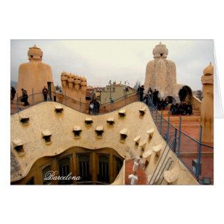 tejado Barcelona de Pedrera del La de g/nc Tarjeta De Felicitación