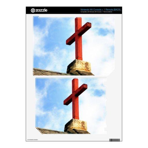 Tejado cruzado de la iglesia calcomanías para el wii
