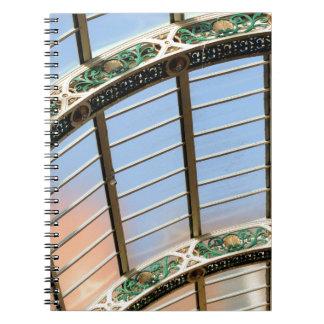 Tejado de cristal libros de apuntes con espiral