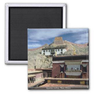 Tejado de Gyantse, Tíbet, China Imán Cuadrado