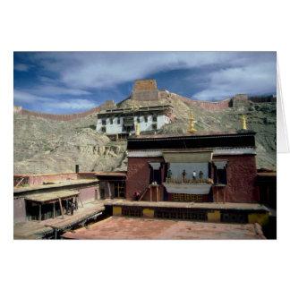 Tejado de Gyantse, Tíbet, China Tarjeton