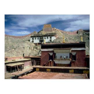 Tejado de Gyantse, Tíbet, China Postales