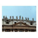 Tejado de la basílica de San Pedro en Roma, Italia Postales