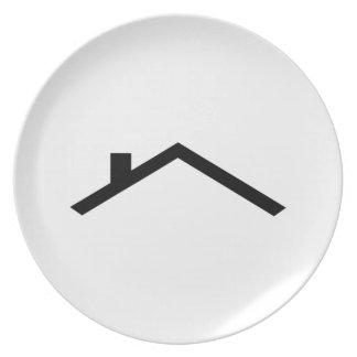 tejado de la casa platos