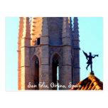 Tejado de la catedral de Sant Feliu, Girona, Tarjetas Postales