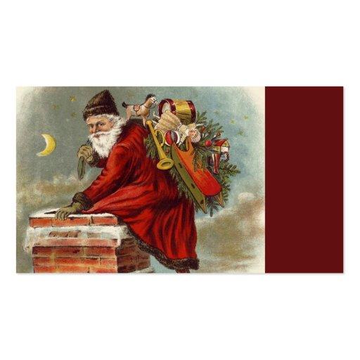 Tejado de la chimenea del navidad del padre plantillas de tarjetas personales