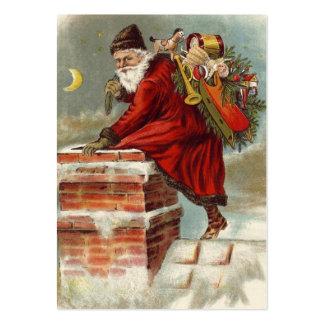 Tejado de la chimenea del navidad del padre plantilla de tarjeta de negocio