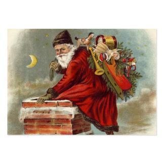 Tejado de la chimenea del navidad del padre tarjeta de visita