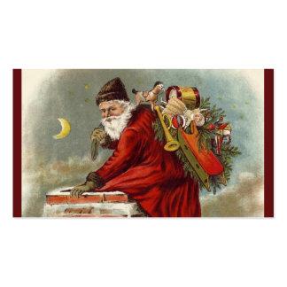 Tejado de la chimenea del navidad del padre tarjetas de visita