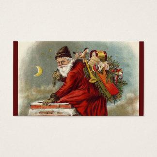 Tejado de la chimenea del navidad del padre tarjeta de negocios