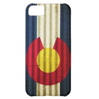 Tejado de la lata de la bandera de Colorado Funda Para iPhone 5C