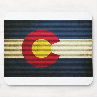 Tejado de la lata de la bandera de Colorado Alfombrillas De Ratón