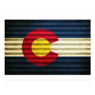 Tejado de la lata de la bandera de Colorado Tarjetas Postales