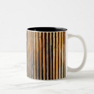 Tejado de la lata taza de café de dos colores