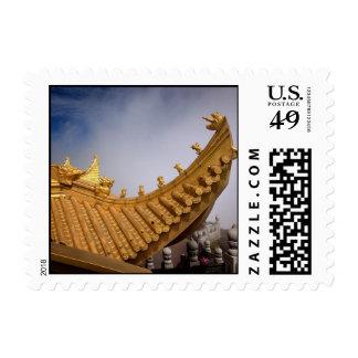 Tejado de oro de China en el sello del Monte Emei