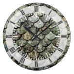 Tejado de pizarra noruego del modelo de la escala  reloj