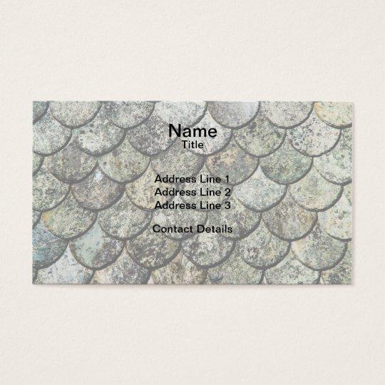 Tejado de pizarra noruego del modelo de la escala tarjetas de visita