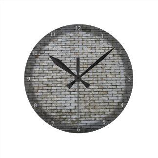 Tejado de tejas gris resistido viejo de la pizarra relojes de pared