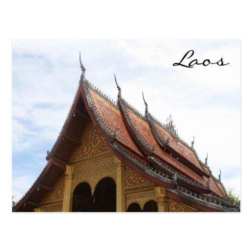 tejado del templo tarjetas postales