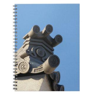 Tejado japonés libretas espirales