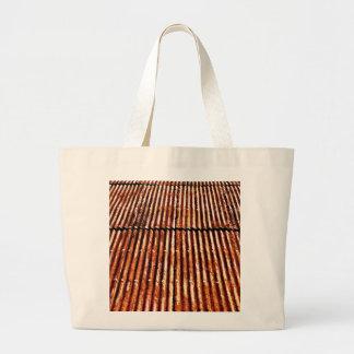 Tejado oxidado bolsa de tela grande