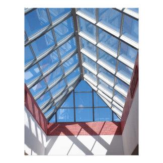 Tejado transparente del centro comercial membretes personalizados