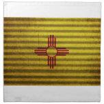 Tejado viejo de la lata de la bandera de New Méxic Servilleta Imprimida