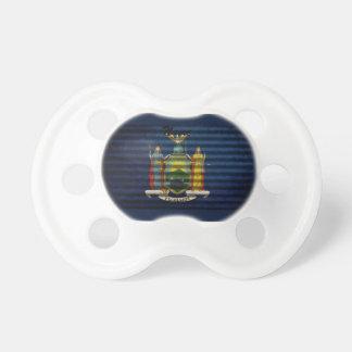 Tejado viejo de la lata de la bandera de Nueva Yor Chupetes Para Bebes