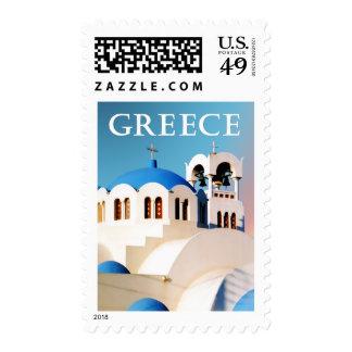 Tejado y campanario Grecia de la iglesia Envio