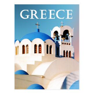 Tejado y campanario Grecia de la iglesia Postal
