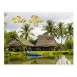 Tejados cubiertos con paja, Zancudo, Costa Rica Postales