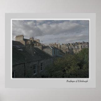 Tejados de Edimburgo Posters